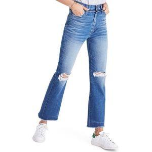 Madewell Retro Crop Hi Rise Distressed Boot Jean